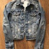 Джинсовая куртка H&M размер 32