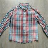 Летние повседневные детские рубашки, рубашка для мальчиков, школьные рубашки с коротким рукаво