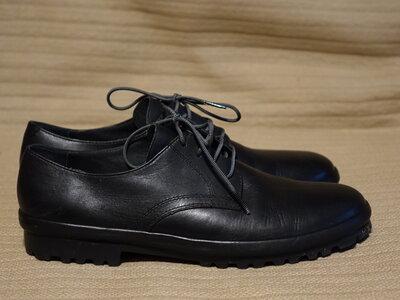 Легчайшие формальные черные кожаные туфли - дерби Camper Truman Испания 41 р.
