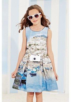 Стильное платье next для девочки 3 года