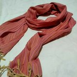 Хлопковый шарф 28х190