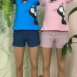 Домашний женский костюм комплект пижама женская размеры 40-54