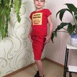 Костюм комплект на девочку летний оригинальный футболка юбка карандаш