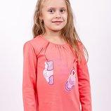 Блуза реглан для девочек рост 92-122