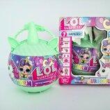 Кукла сюрприз Lol Unicorn единорог в сумочке салатовый 4 вида набор в коробке