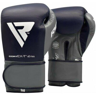 Боксерские перчатки RDX Leather Pro C4 Blue 12 ун