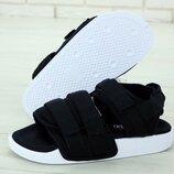 Мужские сандали босоножки Адидас Adidas Sandals Black White