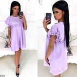 Женское летнне платье свободного трапецевидного кроя ткань костюмка скл.1 арт. 54404