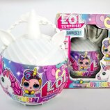 Кукла сюрприз Lol Unicorn единорог в сумочке белый 4 вида набор в коробке