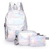 Модный голографический набор 3в1 рюкзак сумка клатч Cry Baby В Наличии