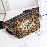 Модная поясная сумка бананка с тигровым окрасом В Наличии