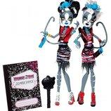 Кукла верокошка Пурсефона и Мяулодия зомби шейк монстер хай monster high оригинал.