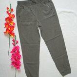 Суперовые модные летние брюки сафари хаки 100% лиоцелл высокая посадка M&S.
