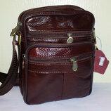 Мужская сумка из натуральной кожи C-203 21х16X8см