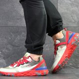 Nike Undercover X Nike React Element 87 кроссовки мужские демисезонные красные с бежевым 7908