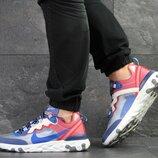 Nike Undercover X Nike React Element 87 кроссовки мужские демисезонные синие с красным 7910