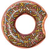 Круг Пончик коричневый шоколад 107см