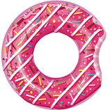 Круг Пончик Карамель розовый