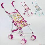 Кукольная коляска трость для кукол пупсов металлическая прогулочная