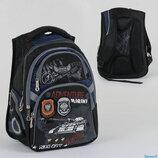 Рюкзак школьный C 36789, 2 отделения, 4 кармана, ортопедическая спинка