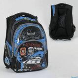 Рюкзак школьный C 36790, 2 отделения, 4 кармана, ортопедическая спинка