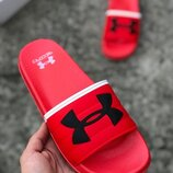 Шлепанцы Under Armour Red.Купить красные мужские тапки недорого в Украине.