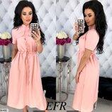 Женское летнее платье с разрезом ткань летняя костюмка скл.1 арт. 54460