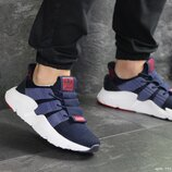 Adidas кроссовки мужские демисезонные темно синие с белым 7915