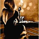 Картина по номерам. Brushme Девушка в баре GX5002.