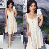 Женское летнее платье рубашка на кнопках ткань софт скл.1 арт.54454