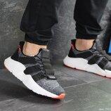 Adidas кроссовки мужские демисезонные серые с белым и оранжевым 7917