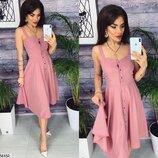 Женское летнее платье рубашка на кнопках ткань софт скл.1 арт.54452