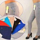 Брюки штаны джинсы черные женские польские летние большие - хлопок
