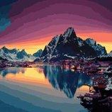 Картина по номерам. Brushme Северный закат GX21713.