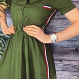 Женское коттоновое летнее платье микс лених цветов скл.1 арт. 54445