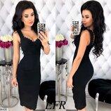 Женское повседневное летнее платье в обтяжку ткань стрейч-джинс скл.1 арт. 54435