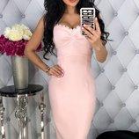 Женское повседневное летнее платье в обтяжку ткань стрейч-джинс скл.1 арт. 54434
