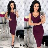 Женское повседневное летнее платье в обтяжку ткань стрейч-джинс скл.1 арт. 54433