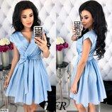 Женское платье из натуральной каттоновой ткань прин мелкий горошек скл.1 арт.54428