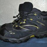 Треккинговые кожаные ботинки Salomon