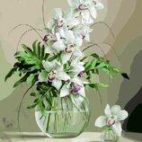 Картина по номерам. Brushme Орхидеи в вазе GX21177...