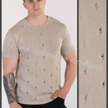Мужская вязаная футболка, Футболка мужская, Чоловічі футболки