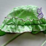 літня шапочка панама, панамка на дівчинку 1 рік