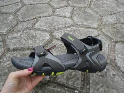 Мужские сандалии steiner 41-46р серые с зеленым