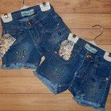 Дитячі джинсові шорти для дівчинки Котеня