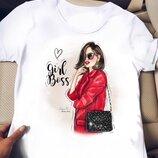женская футболка с разными рисунками крм 375