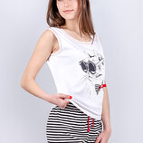 Комплект женский майка с шортами S M L