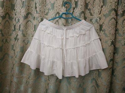 Белоснежная юбка с воланами F&F Англия