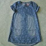 Джинсовое платье F&F, 4-5 лет