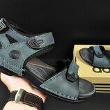 Сандалии мужские Adidas серо-синие и черные 40-45р